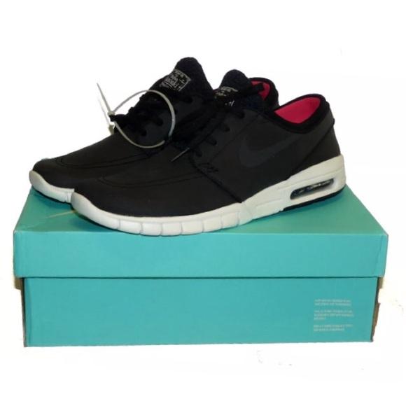 buy online 564d6 28701 NEW Nike SB Stefan Janoski Max L Black White Pink